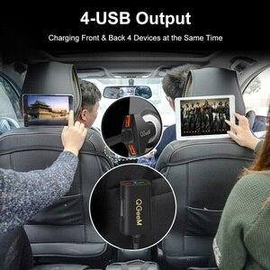 Image 2 - Cargador de coche QGEEM 4 USB para iPhone de carga rápida 3,0, cargador portátil de coche, martillo, parte frontal, trasera, QC3.0, cargador rápido de teléfono para coche