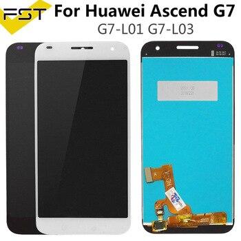 أسود/أبيض لهواوي التصاعدي G7 G7-L01 G7-L03 شاشة LCD عرض + مجموعة المحولات الرقمية لشاشة تعمل بلمس لهواوي G7 + أدوات