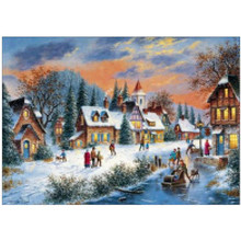 Christmas country scenery 5D DIY embroidery cross stitch mosaic full round diamond painting home decoration gifts