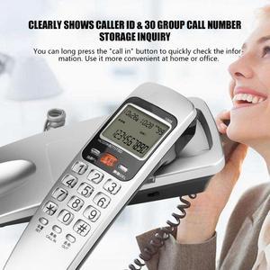 Image 4 - Telefono 유선 전화 FSK/DTMF 발신자 ID 전화 유선 전화 책상 벽 마운트 유선 연장 전화 집에 넣어
