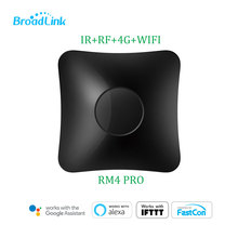 Broadlink RM pro+/RM4 pro Universal Intelligent Remote Controller Smart Home Automation WiFi+IR+RF Switch Work with Alexa