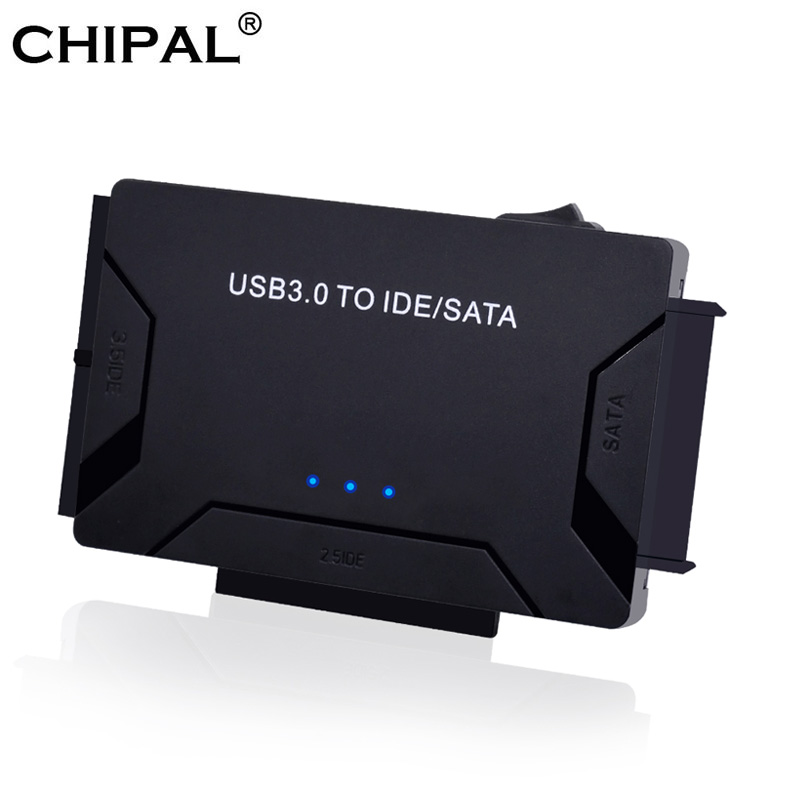 CHIPAL 3 In 1 SATA To USB IDE Adapter USB 3.0 To SATA IDE ATA Data Converter For PC Computer 2.5