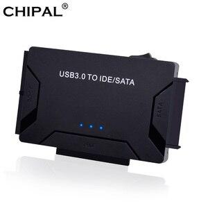 Image 1 - Адаптер CHIPAL 3 в 1 с SATA на USB IDE, USB 3,0 на SATA IDE ATA, преобразователь данных для ПК, 2,5 дюйма, 3,5 дюйма, SSD HDD + кабель питания