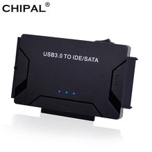 """CHIPAL 3 in 1 SATA to USB IDE Adapter USB 3.0 to SATA IDE ATA Data Converter for PC Computer 2.5"""" 3.5"""" SSD HDD + Power Cable"""