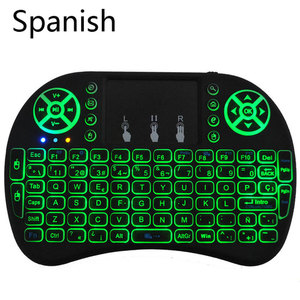 Mini keyboard with 3 backlits and multi-languages, 2.4Ghz wireless keyboard for Android smart TV and Windows computer(China)