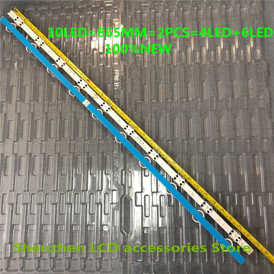 4Pieces lot 10 lamp for LG SUNG WEI55V0 E74739 94V-0 43inch V17 art3 2867 TV 43LJ614V 43LV340C 43UJ670V 43UJ6565 43UJ6525