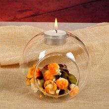 10 см ваза для цветов контейнер свеча Декор Гидропонные свечи Настольный набор для чая свет цветок держатель креативный стеклянный прозрачный террариум