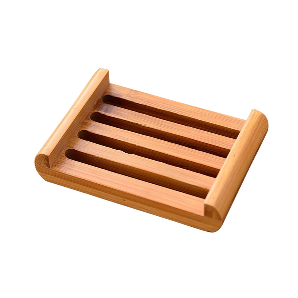 Natural Wood Wooden Soap Dish Storage Tray Holder Bath Shower-Plate Bathroom New