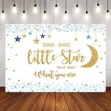 Gold glitter backdrop baby shower twinkle twinkle little star background for photo studio blue stars boy baby shower