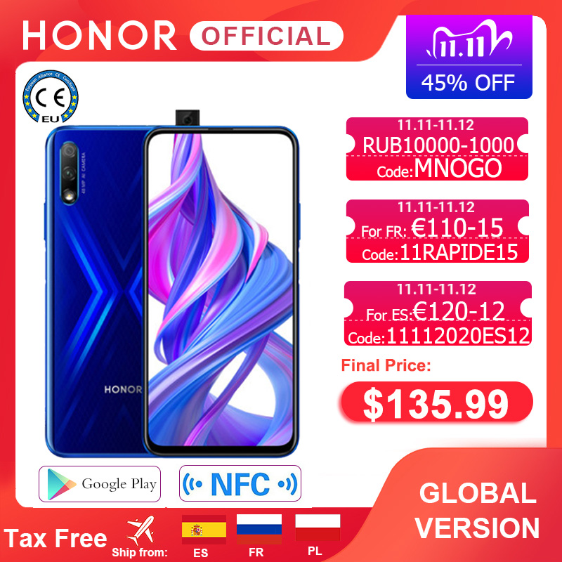 Special Version Honor 9X Smartphone 4G128G 48MP Dual Cam 6.59'' Mobile Phone Android 9 4000mAh OTA Google Play|Cellphones| - AliExpress