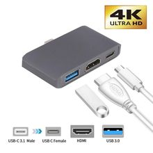 Hot Type C To HDMI USB 3.0 Charging Adapter Converter USB-C 3.0 Hub Adapter for Mac Air Pro Huawei Mate10 Samsung S8 Plus New