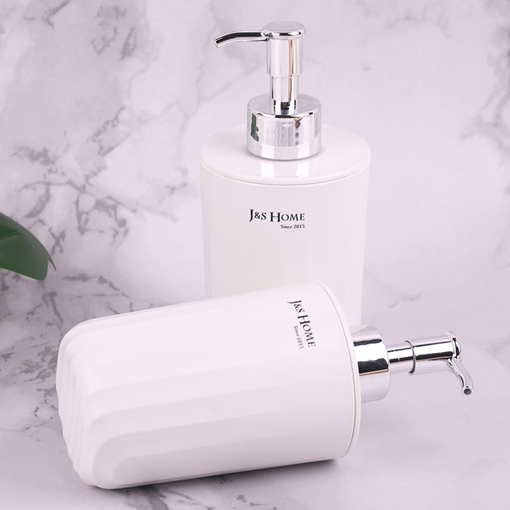 1pc Hand Sanitizer Bottles Soap Dispenser Shampoo Bottles Bathroom Toilet Pressing Lotion Bottles Bathroom Accessories White