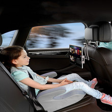 Acessórios do carro universal suporte do telefone do carro filme suporte telescópico traseiro assento travesseiro titular para 4.7-12.9 Polegada telefone tablet