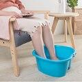 Уход за ногами ванна спа пластиковая Ванна для ног замочить таз педикюр Детокс-массаж ног 38x35x18 см ноги замочить таз HFing