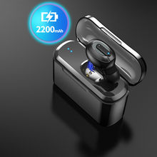 T1 миниатюрные беспроводные Bluetooth-наушники, спортивные наушники-вкладыши, гарнитура для Android, IPhone, 1200 мАч/2200 мАч/USB-зарядный бокс