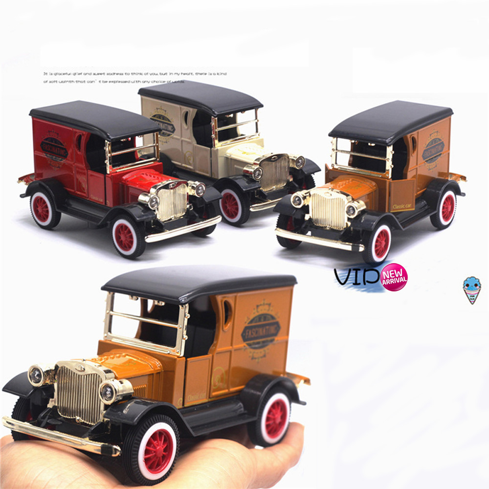 1/32 Classic Retro Car Vintage Car Model Toys Old Bubble Car Set Pull Back Alloy Diecasts Vehicle Gift Kids Baby Brinquedos