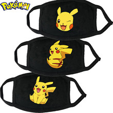 1PC set Pikachu Cartoon Anime Pokemon face mouth Masks Children Reusable Washable Dust-proof Protection Kids cosplay Masks Gifts
