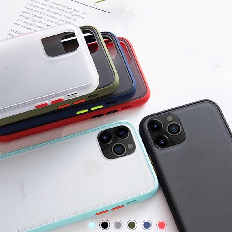Funda dura mate para OnePlus 6 67 7 7T Pro funda para iPhone 11 Pro Max Xs XR X 6 6S 7 8 Plus 5 5S funda carcasa trasera dura clara