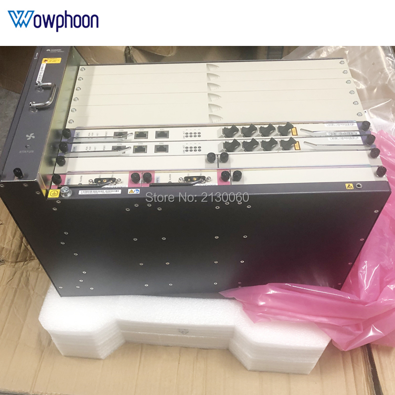 MINI Huawei  MA5683T 10G OLT Fttb/Fttc/Ftth GPON EPON OLT  (Chassis + 2xSCUN + 2xPRTE + 2x GICF )