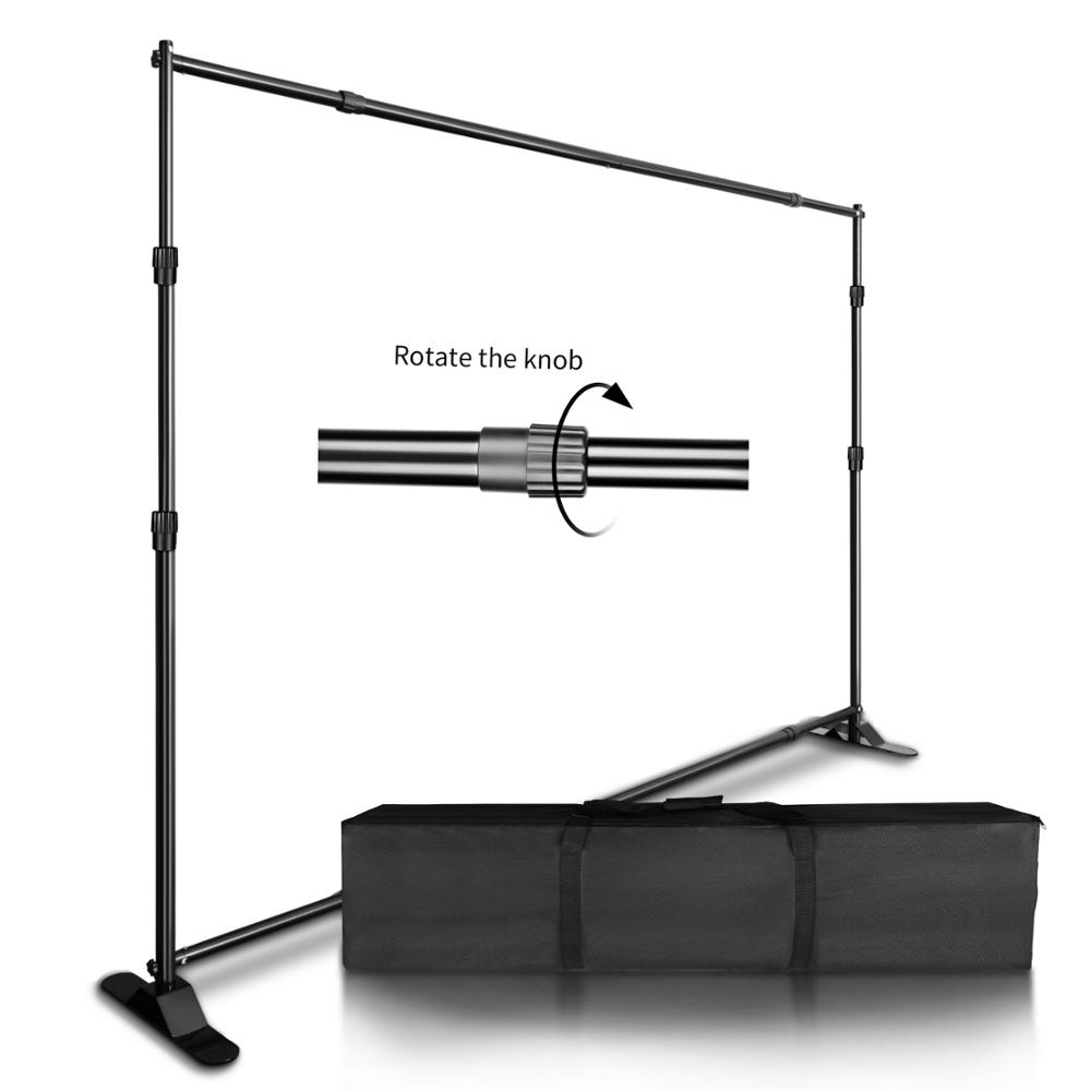 2.7x3.4M Backdrop Background Stand Frame Support System Muslin Green Screen With OXford Bag For Photography Photo Studio VideoBackground   -