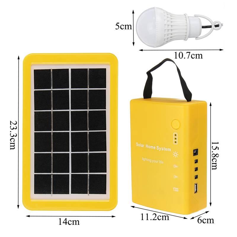 2 lâmpada led geradores solares
