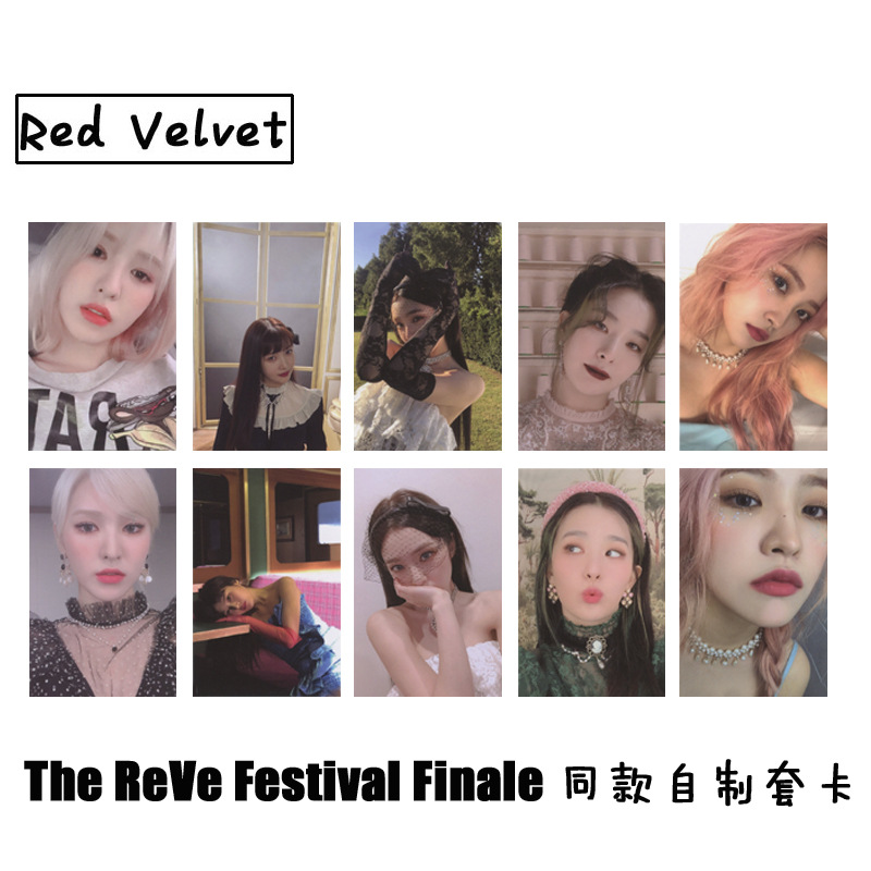 10pcs/set Kpop Red Velvet phorocard New album Festival Finale PSYCHO photo lomo card high quality For fans collection image