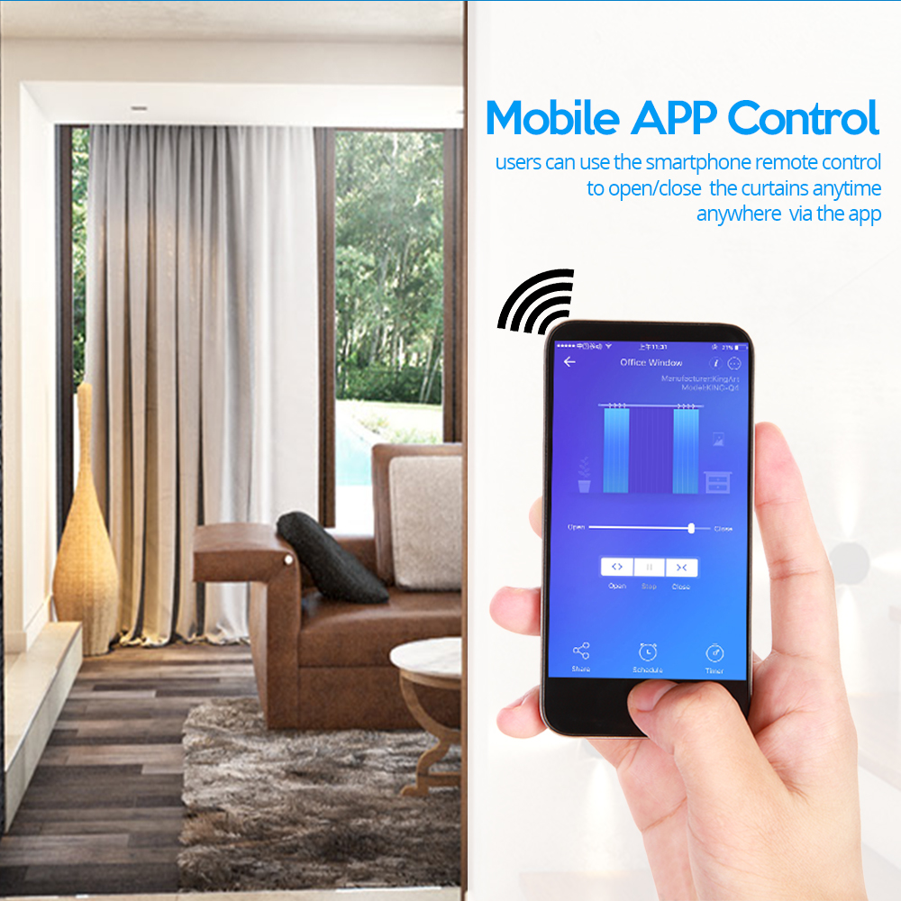 Image 5 - Smart Curtain Switch WiFi Roller Shutter Switch Voice Control Compatible with Alexa Eco Google Home Blinds Roller Shutter SwitchSwitches   -