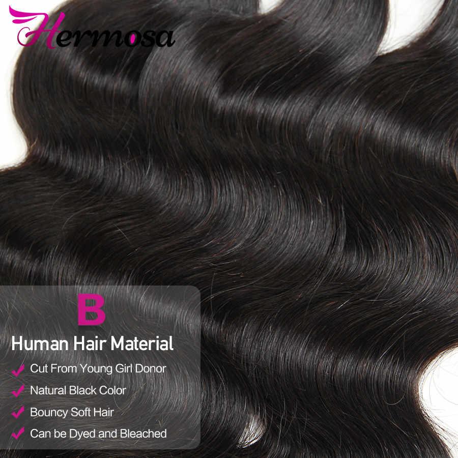 Hermosa Menschliches Haar 3 Bundles Mit Frontal Verschluss Brasilianische Körper Welle 13x4 Spitze Frontal Mit Bundles Mittleren Verhältnis nicht-Remy Haar