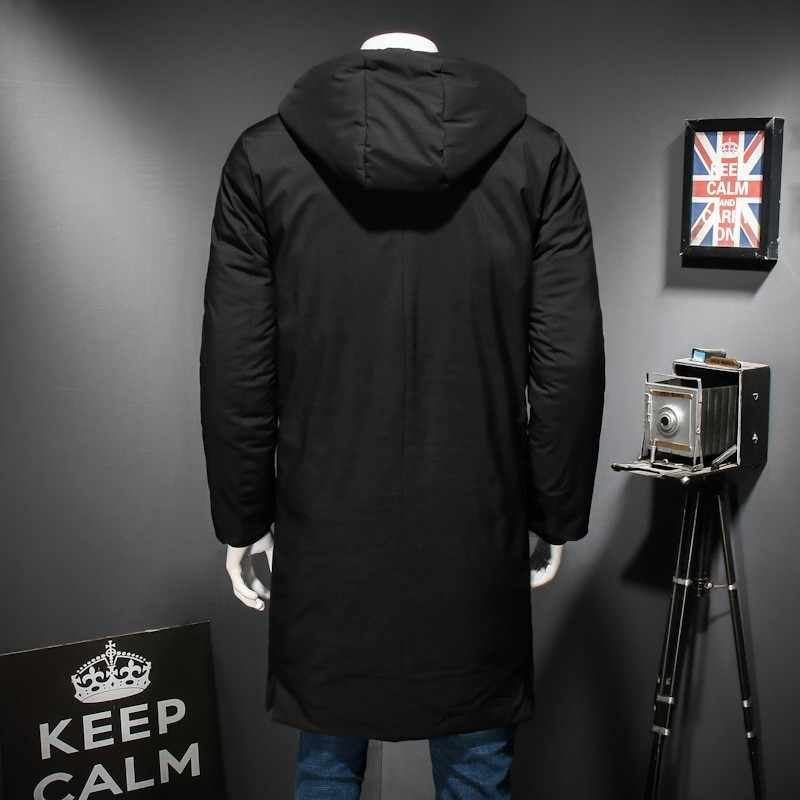 10XL 9XL 8XL Più Il Formato di Alta Qualità Degli Uomini Caldi di Inverno Caldo Giacca Antivento Casual Tuta Sportiva di Spessore Medio X- cappotto Lungo Degli Uomini Parka