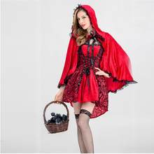 Halloween Cosplay Costumes For Women Medieval Retro Dress Scary Witch Chemise Uniform Hooded Cloak Dresses Women Drop shipping c(China)