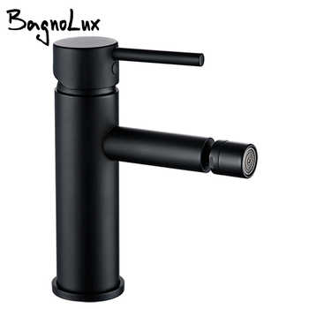 Alba Round Matte Black Bidet Mixer Tap Faucet Adjustable Aerator Anal Cleaning Bathroom Taps Single Hole Clean Small Faucet - DISCOUNT ITEM  18% OFF All Category