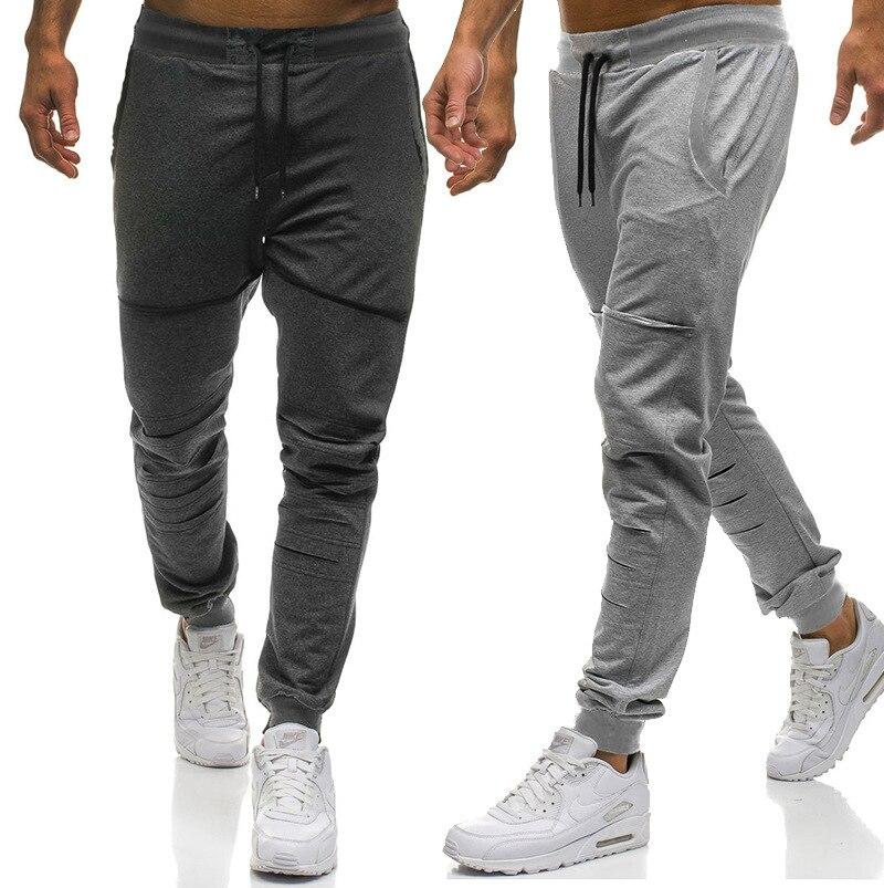 2018 Autumn Clothing New Style Large Size Men With Holes Double Pocket Design Men's Athletic Pants Casual Pants MEN'S Trousers