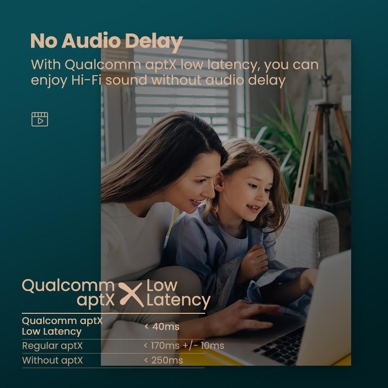 Ugreen Bluetooth Transmitter 5.0 TV Headphone PC PS4 aptX LL 3.5mm Aux SPDIF 3.5 Jack Optical Audio Music Bluetooth 5.0 Adapter 2