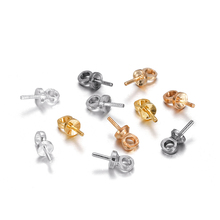 100pcs/lot Metal Charms Screw Eye Bails Beads End Caps Clasps Pins Connectors For DIY Pendant Jewelry Making Finding Accessories