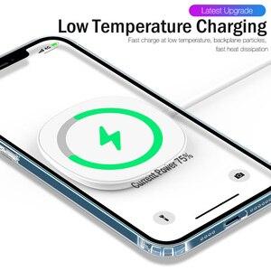 Image 5 - יוקרה מגנטי מקרה עבור iPhone 11 12 פרו מקס מיני XS XR X 10 נייד טלפון כיסוי ברור פגז TPU רך סיליקון עמיד הלם פגוש