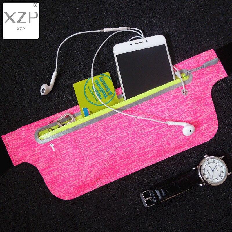 XZP Men Women Outdoor Sports Invisible Professional Waterproof Running Pockets Fanny Waist Bag Pack Gym Running Jogging Belt
