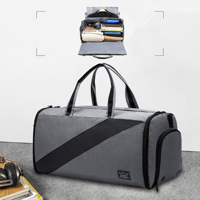 BAKINGCHEF Travel Men Suit Bag 2 In 1 Garment Duffle Business Clothes Shoes Crossbody Document Electronics Toiletries Handbag