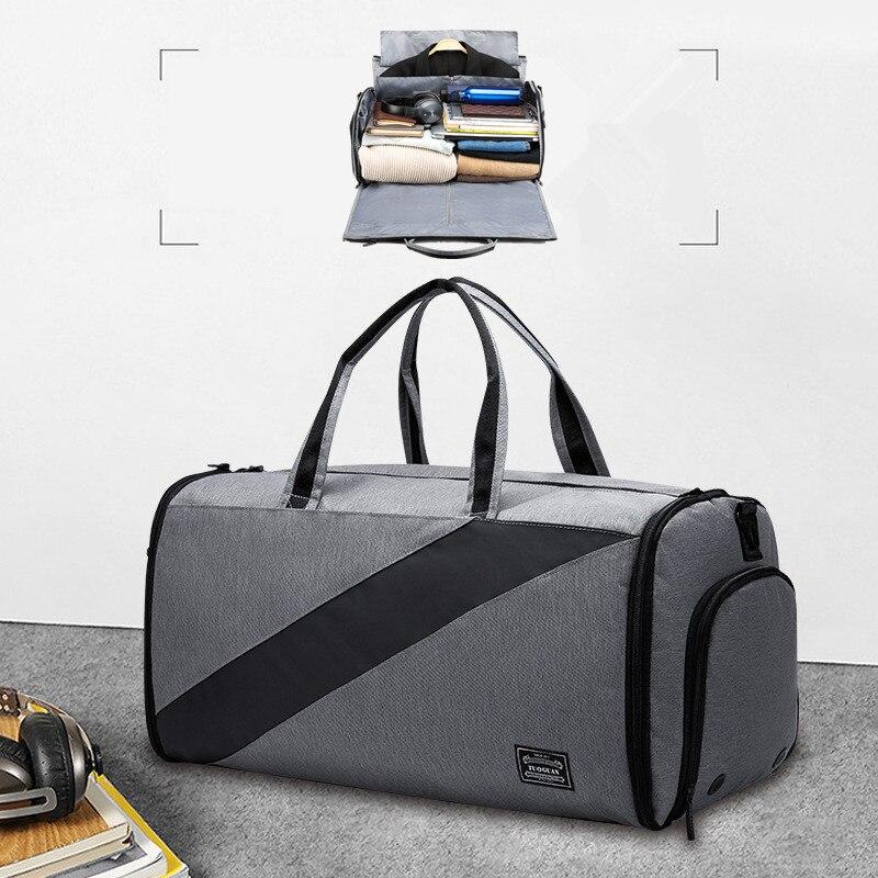 BAKINGCHEF sac de voyage pour hommes   Sac de protection 2 en 1, sac de sport d'affaires pour vêtements et chaussures à bandoulière pour produits de toilette électroniques et documents