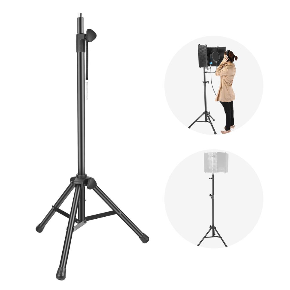 Neewer NW002-1 Wind Screen Bracket Stand Aluminum Tube Non-slip Feet Adjustable Height 65.2 Inches/ 165.5cm Stand