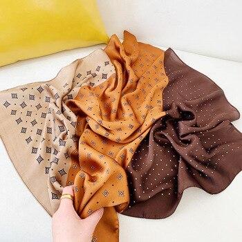 70*70cm Small Kerchief Shawls Silk Satin Neck Scarf For Women Bandana Head Scarfs Female Sqaure Cute Headband Scarves Lady - discount item  35% OFF Scarves & Wraps