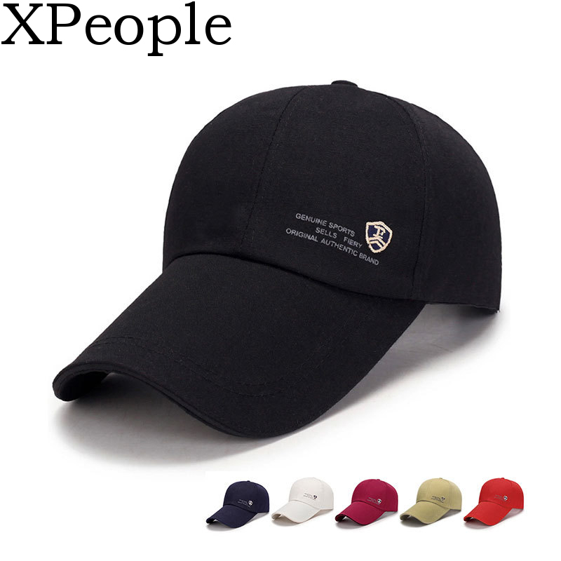 Xpeople Baseball-Cap Visor Adjustable Large Unisex Cotton For Outdoor-Sports 11CM Sun-Hat