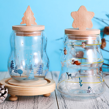 Christmas Tree Star Cup Merry Creative Transparent Double Anti-Scalding Glass Coffee Milk Childrens Gift