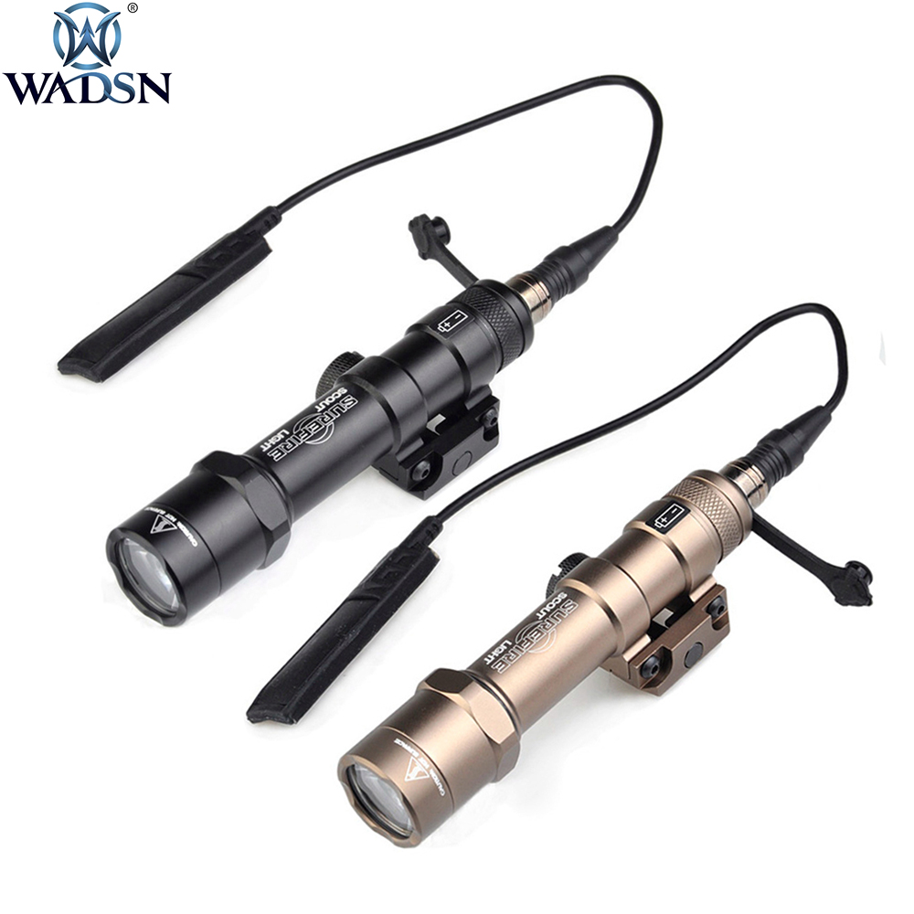 WADSN M600 M600B Scout Light tactique LED Mini lampe de poche arme pistolet lumière avec support de Rail de 20mm Picatinny