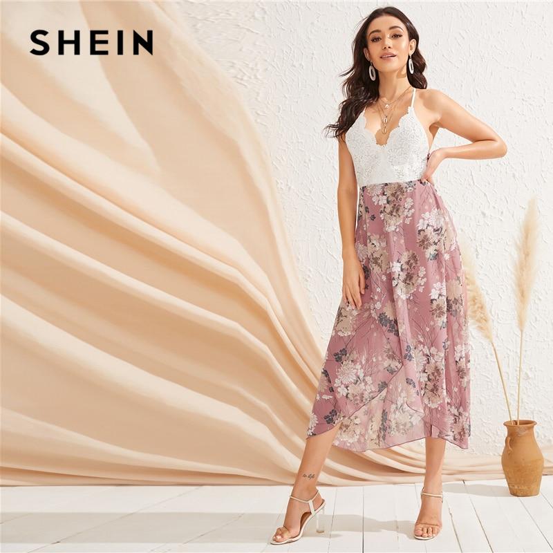 SHEIN High Waist Midi Dress