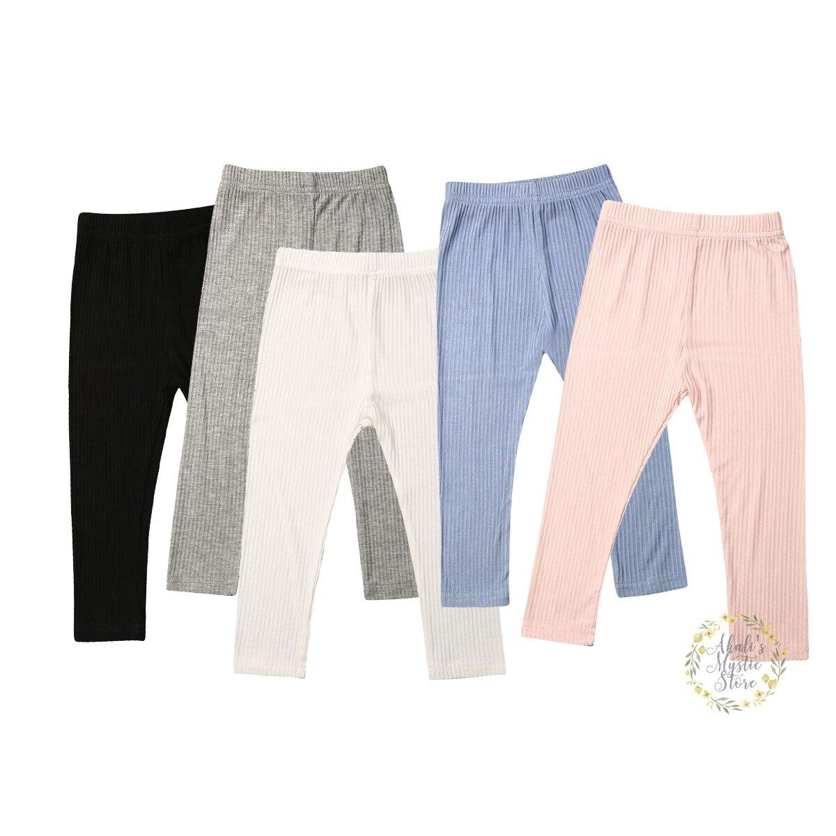 6M-4Y Toddler Newborn Baby Kid Girls Skinny Pants Solid Cotton Autumn Spring Leggings PP Trouser Bottoms