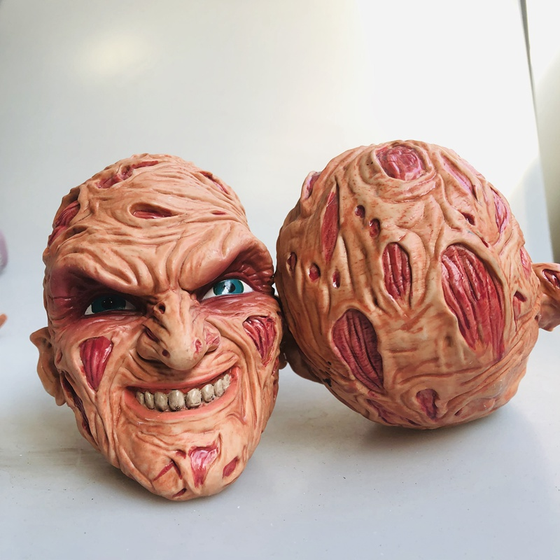 SecondHand Head Sculpt 14cm Freddy Krueger Face Horror Face PVC Scary Figure Collectible Model Loose Toy Hot