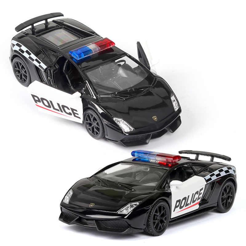 RMZ Modello di Auto 1:36 di Serie Auto Della Polizia Giocattoli Pressofusi E Veicoli in Lega di metallo di Simulazione Tirare Indietro Giocattoli Per I Regali Per Bambini Per I Bambini