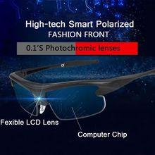 AI Smart Sunglasses Man Polarized Sun Glasses Sports 0.1S Color Change intellige