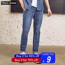 Metersbonwe Straight Jeans Men 2019 Spring Autumn New Casual Youth Trend Slim Jeans Mens Pants Men Trousers(China)