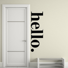 Hello wall Sticker Hello Door Sign decals Hello door Wall Art Decor decals Vinyl Lettering Modern Decal Wall Mural HY825